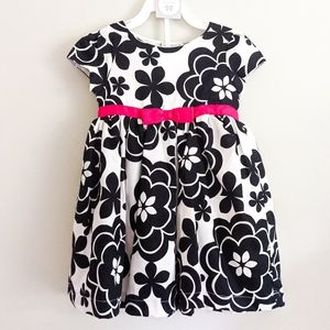 Carters Floral Black And White Girls Summer Dress